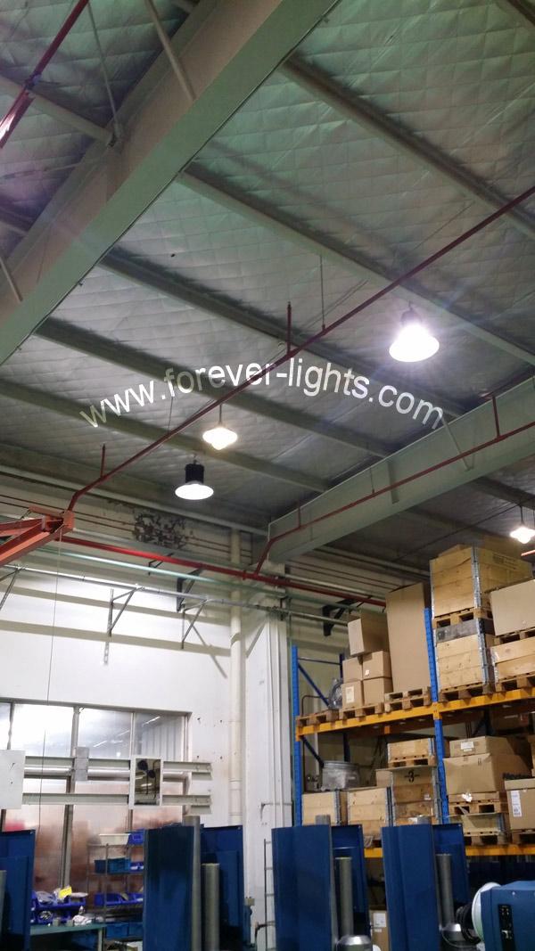 150W LED工矿灯用于上海尼的曼工厂及仓库照明