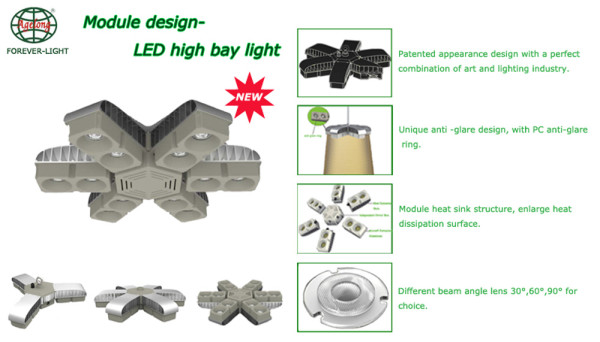 New module anti-glare LED high bay light