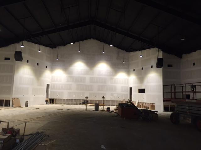 美国 – UFO系列LED工矿灯应用于美国教堂照明