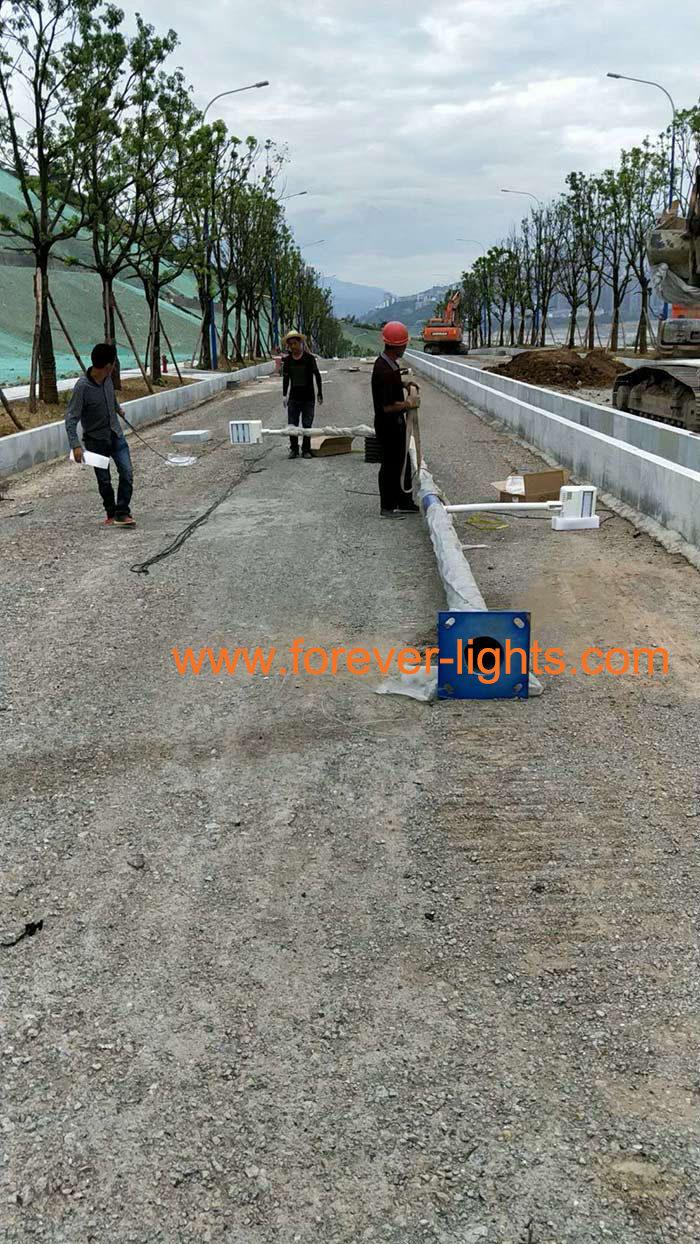 重庆巫山-金刚PLC智能化LED路灯案例