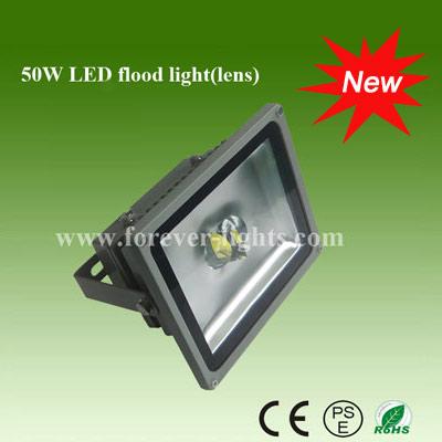 50W LED泛光灯/LED投光灯(60°/120°)透镜